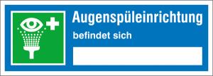 Hinweisschild, Augenspüleinrichtung befindet sich ... (Ausführung: Hinweisschild, Augenspüleinrichtung befindet sich ... (Art.Nr.: 21.0755))