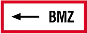 Hinweisschild, BMZ (linksweisend) (Größe/Material: Alu,geprägt (Art.Nr.: 11.2508))