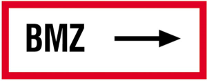 Hinweisschild, BMZ (rechtsweisend) (Material: Alu,geprägt (Art.Nr.: 11.2504))