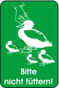 Hinweisschild, Bitte nicht füttern!, 400 x 600 mm (Ausführung: Hinweisschild, Bitte nicht füttern!, 400 x 600 mm (Art.Nr.: 14874))