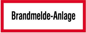 Hinweisschild, Brandmelde-Anlage (Ausführung: Hinweisschild, Brandmelde-Anlage (Art.Nr.: 21.2542))