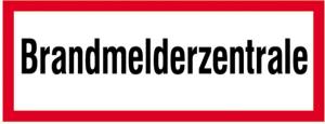 Hinweisschild, Brandmelderzentrale (Maße(BxH)/Material: 297x105mm/<br>Folie,selbstklebend,langnachl. (Art.Nr.: 38.2512))