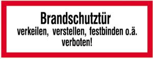 Hinweisschild, Brandschutztür III (Material: Alu,geprägt (Art.Nr.: 11.2550))