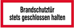 Hinweisschild, Brandschutztür II (Maße(BxH)/Material: 297 x 105 mm/Folie,selbstklebend (Art.Nr.: 21.2546))