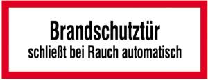 Hinweisschild, Brandschutztür IV (Material: Alu,geprägt (Art.Nr.: 11.2548))