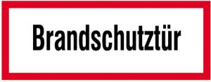 Hinweisschild, Brandschutztür I (Maße(BxH)/Material: 297 x 105 mm/Folie,selbstklebend,langnachl. (Art.Nr.: 38.2544))