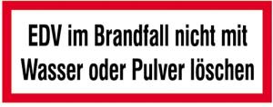 Hinweisschild, EDV im Brandfall ... (Ausführung: Hinweisschild, EDV im Brandfall ... (Art.Nr.: 21.2625))