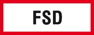 Hinweisschild, FSD (Variante: Alu,geprägt (Art.Nr.: 11.2856))