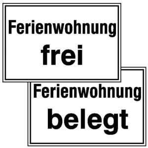Hinweisschild Ferienwohnung, für Gaststätten, Pensionen, Hotels (Ausführung: Hinweisschild Ferienwohnung, für Gaststätten, Pensionen, Hotels (Art.Nr.: 41.5374))