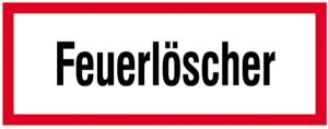 Hinweisschild, Feuerlöscher (Material: Folie,selbstklebend (Art.Nr.: 21.2865))