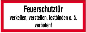 Hinweisschild, Feuerschutztür ... (Ausführung: Hinweisschild, Feuerschutztür ... (Art.Nr.: 21.2554))