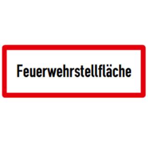 Hinweisschild, Feuerwehrstellfläche, DIN 4066 (Maße/Folie/Form:  <b>74x210mm</b>/RA1/Flachform 2mm (Art.Nr.: hwsb030072121))