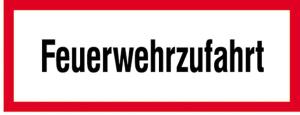 Hinweisschild, Feuerwehrzufahrt, DIN 4066 (Maße/Folie/Form:  <b>74x210mm</b>/RA1/Flachform 2mm (Art.Nr.: hwsb010072121))