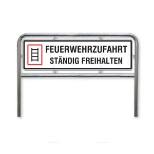 Hinweisschild, Feuerwehrzufahrt ständig freihalten, Stärke 2mm (Ausführung: Hinweisschild, Feuerwehrzufahrt ständig freihalten, Stärke 2mm (Art.Nr.: 52.2768))