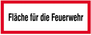 Hinweisschild, Fläche für die Feuerwehr (Material: Alu,geprägt (Art.Nr.: 11.2654))