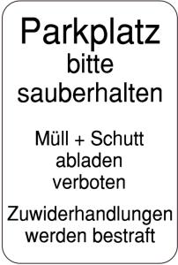 Schilder zur Abfallentsorgung
