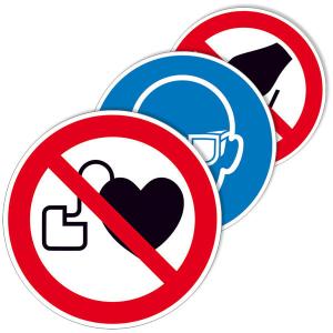Hinweisschild -Protect-, Verbots- und Gebotszeichen, selbstklebend, verschiedene Größen