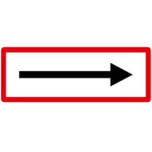 Hinweisschild, Richtungspfeil, DIN 4066 (Maße/Folie/Form:  <b>74x210mm</b>/RA1/Flachform 2mm (Art.Nr.: hwsb060072121))