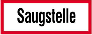 Hinweisschild, Saugstelle (Ausführung: Hinweisschild, Saugstelle (Art.Nr.: 11.2582))