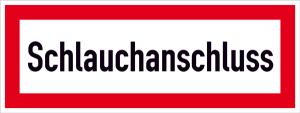Hinweisschild, Schlauchanschluss (Ausführung: Hinweisschild, Schlauchanschluss (Art.Nr.: 21.2584))