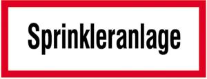 Hinweisschild, Sprinkleranlage (Ausführung: Hinweisschild, Sprinkleranlage (Art.Nr.: 21.2562))