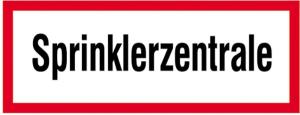 Hinweisschild, Sprinklerzentrale (Material: Alu, geprägt (Art.Nr.: 11.2532))