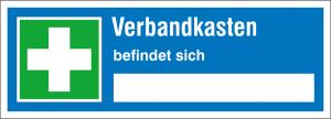 Hinweisschild, Verbandkasten befindet sich ... (Ausführung: Hinweisschild, Verbandkasten befindet sich ... (Art.Nr.: 21.0751))