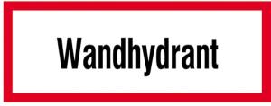 Hinweisschild, Wandhydrant (Ausführung: Hinweisschild, Wandhydrant (Art.Nr.: 21.2872))