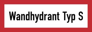 Hinweisschild, Wandhydrant Typ S (Ausführung: Hinweisschild, Wandhydrant Typ S (Art.Nr.: 21.2588))