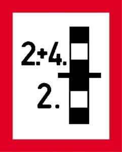 Hinweisschild auf eine Brandwand, die... nach DIN 4066 (E4) (Ausführung: Hinweisschild auf eine Brandwand, die... nach DIN 4066 (E4) (Art.Nr.: 11.2696))