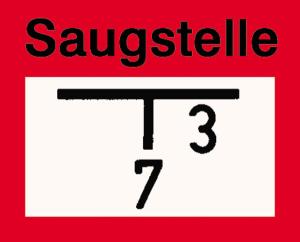 Hinweisschild auf eine Saugstelle zur Löschwasserentnahme, nach DIN 4066 (B3) (Ausführung: Hinweisschild auf eine Saugstelle zur Löschwasserentnahme, nach DIN 4066 (B3) (Art.Nr.: 11.2686))