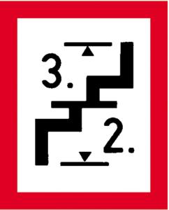 Hinweisschild auf eine Treppe,... nach DIN 4066 (E3) (Ausführung: Hinweisschild auf eine Treppe,... nach DIN 4066 (E3) (Art.Nr.: 11.2694))