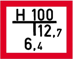 Hinweisschild auf einen Unterflurhydranten, nach DIN 4066 (A) (Ausführung: Hinweisschild auf einen Unterflurhydranten, nach DIN 4066 (A) (Art.Nr.: 11.2680))
