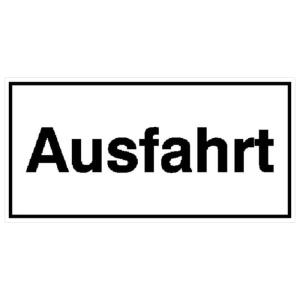 Hinweisschild für Ausfahrten, Ausfahrt (Ausführung: Hinweisschild für Ausfahrten, Ausfahrt (Art.Nr.: 11.5235))