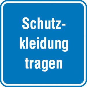Hinweisschild für Betriebssicherheit Schutzkleidung tragen (Ausführung: Hinweisschild für Betriebssicherheit Schutzkleidung tragen (Art.Nr.: 11.0712))
