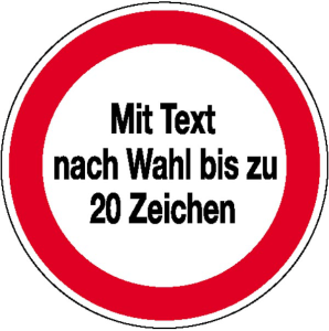 Hinweisschild für Betriebssicherheit Wunschtext (Maße Ø: Ø 200mm (Art.Nr.: 43.1217))