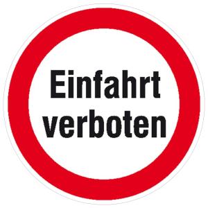 Hinweisschild für Einfahrten, Einfahrt verboten (Ausführung: Hinweisschild für Einfahrten, Einfahrt verboten (Art.Nr.: 11.1162))