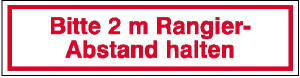 Hinweisschild für Kraftfahrzeuge, Bitte 2 m Rangierabstand halten (Ausführung: Hinweisschild für Kraftfahrzeuge, Bitte 2 m Rangierabstand halten (Art.Nr.: 21.2433))