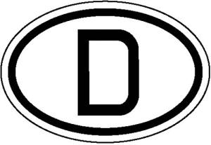 Hinweisschild für Kraftfahrzeuge, Internationales Kennzeichen für Deutschland (Ausführung: Hinweisschild für Kraftfahrzeuge, Internationales Kennzeichen für Deutschland (Art.Nr.: 21.1811))
