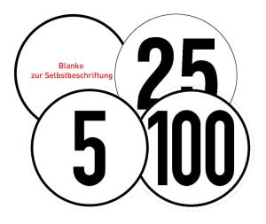 Hinweisschild für Kraftfahrzeuge, Zulässige Höchstgeschwindigkeit (Material: Alu, geprägt / einbrennlackiert (Art.Nr.: 11.1812))