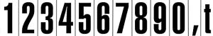 Hinweisschild für Kraftfahrzeuge, selbstklebende Zahlenschilder (Ausführung: Hinweisschild für Kraftfahrzeuge, selbstklebende Zahlenschilder (Art.Nr.: 21.1807))