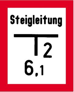 Hinweisschild für Steigleitung bzw. auf einen Schieber, nach DIN 4066 (E1) (Ausführung: Hinweisschild für Steigleitung bzw. auf einen Schieber, nach DIN 4066 (E1) (Art.Nr.: 11.2690))