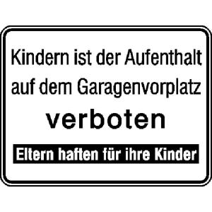 Hinweisschild für Tankanlagen und Garagen, Kindern ist der Aufenthalt ... (Ausführung: Hinweisschild für Tankanlagen und Garagen, Kindern ist der Aufenthalt ... (Art.Nr.: 11.5221))