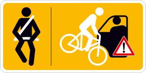 Hinweisschild für Taxen und beförderungspflichtige Fahrzeuge, Bitte anschnallen und Vorsicht... (Ausführung: Hinweisschild für Taxen und beförderungspflichtige Fahrzeuge, Bitte anschnallen und Vorsicht... (Art.Nr.: 21.g4010))