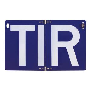 Hinweisschild für Transitverkehr (TIR-Schild), klappbar (Ausführung: Hinweisschild für Transitverkehr (TIR-Schild), klappbar (Art.Nr.: 52.2426))