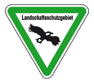 Hinweisschild für Wald- und Freizeitanlagen, Landschaftsschutzgebiet (Ausführung: Hinweisschild für Wald- und Freizeitanlagen, Landschaftsschutzgebiet (Art.Nr.: 11.5438))