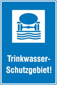 Hinweisschild für Wald- und Freizeitanlagen, Trinkwasser-Schutzgebiet! (Ausführung: Hinweisschild für Wald- und Freizeitanlagen, Trinkwasser-Schutzgebiet! (Art.Nr.: 11.5439))