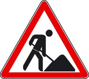 Hinweisschild zur Baustellenkennzeichnung, Vorsicht Baustelle (Ausführung: Hinweisschild zur Baustellenkennzeichnung, Vorsicht Baustelle (Art.Nr.: 11.5001))