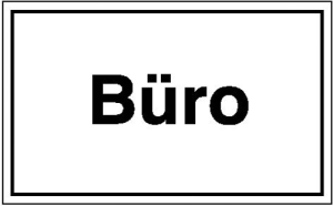 Hinweisschild zur Betriebskennzeichnung, Büro (Material: Folie, selbstklebend (Art.Nr.: 21.5801))
