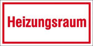 Hinweisschild zur Betriebskennzeichnung, -Heizungsraum- (Maße (BxH)/Material: 200x100mm/Alu,geprägt (Art.Nr.: 11.5970))